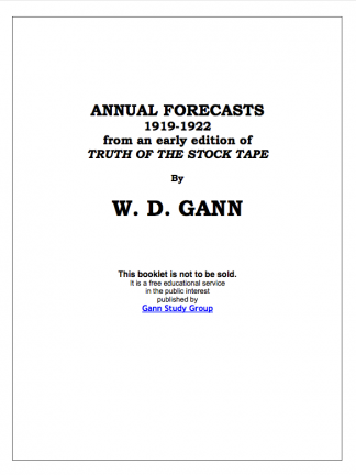 annual forecasts wd gann